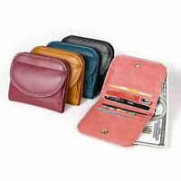 New Womens Genuine Leather Bifold Wallet Coin Pocket Small Purse Card Holder Bag