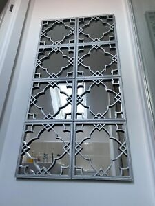 Silver Moroccan Tiled Mirrors 3 Mirrors (1pack) Wall Hanging Mirrors home decor