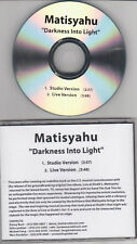 Matisyahu - Darkness Into Light - Radio Promo CD Single - 1210