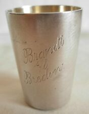 OLD 800 GGERMAN SILVER SMALL CUP BY KOCH & BERGFELD - J.J 1930 & BRANDT - BREDON