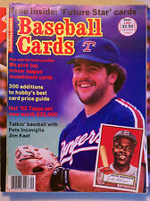 BASEBALL CARDS MAGAZINE SEPTEMBER 1987 VINTAGE MLB PRICE GUIDE TEXAS RANGERS