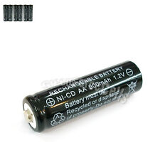 6 Pcs AA 2A 900mAh 1.2V Ni-Cd Ni-Cad Solar Light Rechargeable battery Black