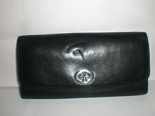 AUTHENTIC COACH BLACK WALLET MISSING SNAP BUCKLE PRE-OWNED $218.00 MFSRP