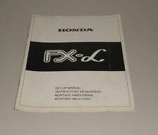 Montageanleitung Honda  FX - Alpha