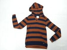 Quiksilver Women Rugby Stripe Pullover Sweater Hood