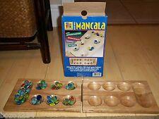 PAVILION DELUXE WOOD MANCALA GAME 2 PLAYERS FOLDABLE GEMSTONE PLAYING PCS IN BOX