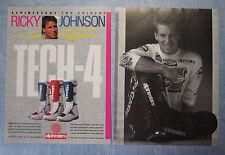 MOTOSPRINT989-PUBBLICITA'/ADVERTISING-1989- ALPINESTARS TECH-4 (R.JOHNSON-A)