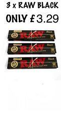 3 x RAW BLACK Papers King Slim Authentic Classic Natural Unrefined! FREE DEL