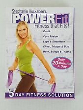 Stephanie Huckabee's PowerFit Dvd's only Fitness Cardio Workout Core