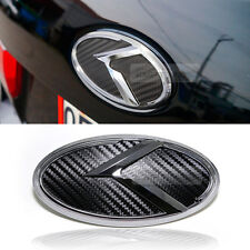 3D K Logo Rear Trunk Carbon Black Emblem Badge For KIA 2015 2016 2017 Sotento UM