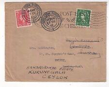 1952 Great Britain KGVI, QEII Redirected to Kurunegala Ceylon SCARCE Destination