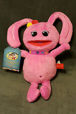NWT Juno Baby Girls Stuffed Plush Pink Bunny - Juno's Rhythm Adventure HTF 13""