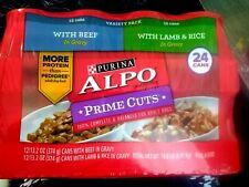 Purina Alpo Prime Cuts Beef, Lamb and Rice in Gravy 13.2 oz Wet Dog Food 24 Cans