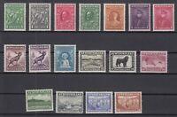 I3611/ CANADA – NEWFOUNDLAND – SCOTT # 183 / 199 COMPLETE MINT – CV 105 $