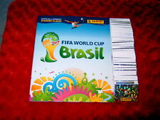 PANINI WORLD CUP BRAZIL 2014 FULL LOOSE SET OF 640 STICKERS + EMPTY ALBUM;