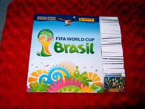 PANINI WORLD CUP BRAZIL 2014 FULL LOOSE SET OF 640 STICKERS + EMPTY ALBUM#