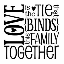 LOVE BLOCK Family Vinyl Wall Decal Wall Quote Subway Wall Decals Art Saying f