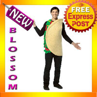 C627 Mens Mexican TACO Funny Food Halloween Fancy Dress Adult Costume