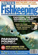 Practical Fishkeeping Magazine 1994 Aquarium Tanks Pond Marine Lighting types