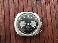 Watch case and dial for ETA Valjoux 7733 swiss made movement - never used