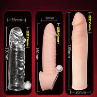 Realistic_Dildo_Penis_Vibrator Sex_Penis_Extender_Sleeve_Couple_ G-spot Massager
