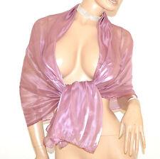 STOLA ROSA GLICINE foulard donna elegante coprispalle scialle abito damigella F1