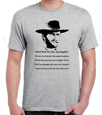 Clint Eastwood Grey T-Shirt Cowboy Western Spaghetti Mule quote