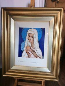 Verkerke Jef Wauters De Kleine Madonna Religious Original Print Framed