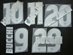 KIT NOME+NUMERO UFFICIALE SSC NAPOLI HOME 2006-2007 OFFICIAL NAMESETS