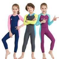 Kids Anti-UV Rashguard Scuba Diving Wet Suit One-Piece Surfing Swimwear Swimsuit