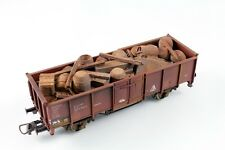 Bauer 1186 H0 Load Old Boxes + Barrels 99mm for Open Freight Car