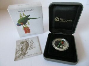 2013 BIRDS OF AUSTRALIA Rainbow Lorikeet 1/2 oz 50 Cents SILVER PROOF COIN