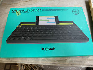 Logitech K480 Wireless Keyboard Universal Multi Device Bluetooth USED ONCE!