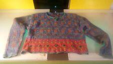 LizWear Sweater women's size Medium decent shape Cosby style funky pattern