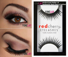 1 Pair GENUINE RED CHERRY #47 Harper Human Hair False Eyelashes Strip Eye Lashes