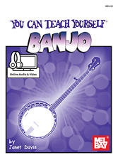 """""""YOU CAN TEACH YOURSELF BANJO"""" MUSIC BOOK/ONLINE AUDIO & VIDEO-BRAND NEW ON SALE"""