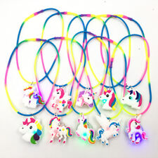 Unicorn Favors Light Up Necklaces Birthday Party Bag Filler Rainbow Xmas Gift