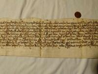Antique Charles I 1625-49 Final Concord DEPTFORD Manuscript Document  #F50