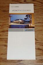 Original 2008 Subaru Legacy Accessories Foldout Sales Brochure 08