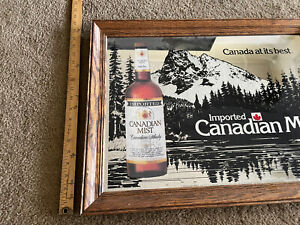 Vintage Canadian Mist Canadian Whiskey Mirror  19 x 25