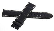 Genuine Longines 19mm x 18mm Black Alligator Leather Watch Band Strap