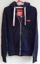 superdry mens orange label zip hoodie navy blue M RN:127685 CA:17791 MS2FX098S