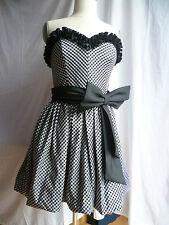 Bandeau Kleid Bustierkleid Ballonkleid DUSK Great Britain schwarz weiß 40 WIENEU