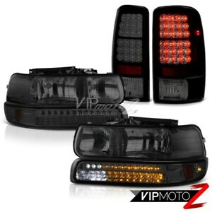 """Darkest Smoke"" 2001-2006 Tahoe Z71 LED Bumper Signal Headlight Brake Tail Light"