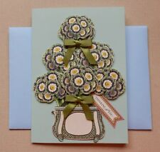 """Large 6"""" X 8.25"""" Handmade Thinking Of You Card & Envelope Anna Griffin Supplies"""
