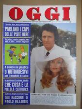 OGGI n°25 1974 con Rari adesivi Giocatori Italia Monaco 74  [G775]