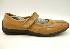 Hush Puppies Brown Leather Casual Mary Jane Driving Flats Shoes Women's 6.5 W