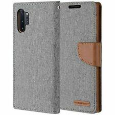 Samsung Galaxy Note 10 Plus Wallet Case Leather Flip Cover Card Slots Brown Gray