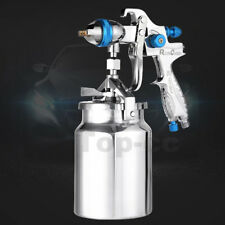 Suction Feed HVLP Spray Gun Auto Car Paint 1.7mm Nozzle+1000ml Pot Repair Kit
