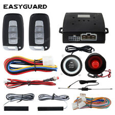 Easyguard Car Alarm System keyless Entry pke Remote Engine Start Push button 12v
